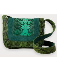 Scotch & Soda Sac à main avec imprimé peau de serpent - Vert