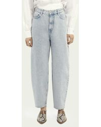 Scotch & Soda Balloon Fit Katoenen Jeans - Crystalized In Time - Blauw