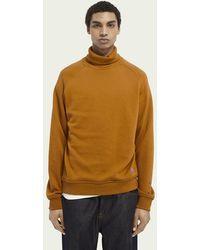 Scotch & Soda Zachte Sweater Met Hoge Hals - Oranje