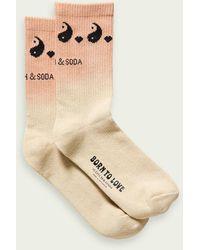 Scotch & Soda Born To Love Unisex Tie-dye Sokken Van Een Katoenmix - Naturel
