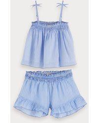 Scotch & Soda Pyjamaset Met Print - Blauw