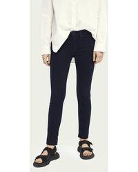 Scotch & Soda La Bohemienne Mid Rise Skinny Jeans – Tall Story - Blauw