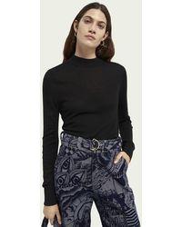 Scotch & Soda Sweater Met Ronde Hals - Zwart