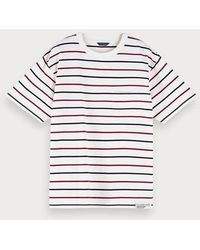 Scotch & Soda Nepped T-shirt In Een Boxy Fit - Wit