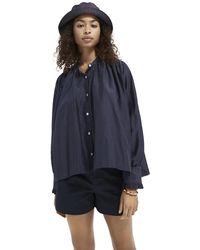 Scotch & Soda Oversized Cotton-blend Shirt - Blue
