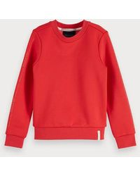 Scotch & Soda Basic Sweater Met Ronde Hals - Rood