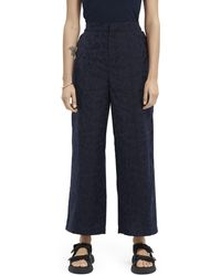 Scotch & Soda Animal Print Jacquard jogger Trousers - Blue