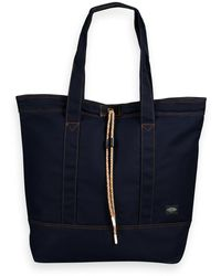Scotch & Soda Leather-trimmed Canvas Bag - Multicolour