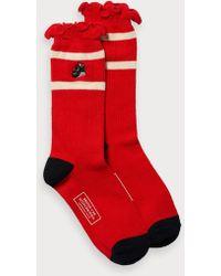 Scotch & Soda Ruffled Socks Brutus - Red