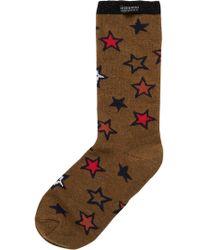 Scotch & Soda Star Jacquard Socks - Brown