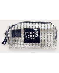 Scotch & Soda Transparant Etui Met Logoprint - Blauw