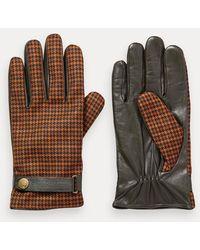 Scotch & Soda Geruite Handschoenen Van Een Wolmix - Zwart