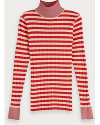 Scotch & Soda Ribgebreide Coltrui - Rood
