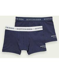 Scotch & Soda 2-pack Katoenen Boxershorts - Blauw