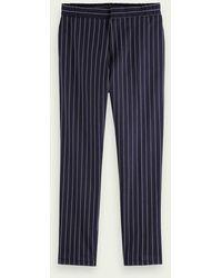 Scotch & Soda - FAVE- mid Rise Anzughose mit Nadelstreifen aus Baumwoll-Stretch - Lyst