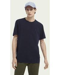 Scotch & Soda Basic T-shirt - Blauw