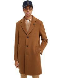 Scotch & Soda Single-breasted Wool-blend Overcoat - Brown