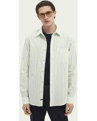 Scotch & Soda Yarn-dyed Katoenen Overhemd Met Motief - Groen