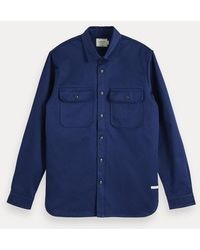 Scotch & Soda Clean Overhemd - Blauw