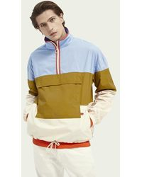 Scotch & Soda Anorak en popeline color-block - Multicolore