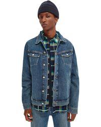 Scotch & Soda Unisex Organic Cotton Trucker Jacket - Blue