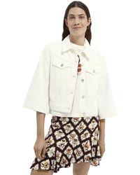 Scotch & Soda Boxy-fit Cotton Trucker Jacket — Summer White