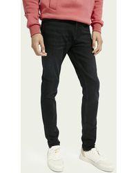 Scotch & Soda Skim Super Slim Fit Jeans Met Gerecycled Katoen – Waiting Line - Blauw