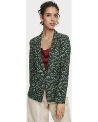 Scotch & Soda Printed Pajama Blazer - Green