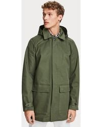 Scotch & Soda Cotton Twill Parka - Green