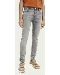Scotch & Soda Skim Super Slim Fit Jeans – Velvet Morning - Grau