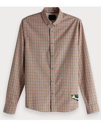 7acbf8f1 J.Crew Factory. Scotch & Soda - Colourful Check Shirt Regular Fit - Lyst