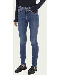 Scotch & Soda Haut Versleten Superstretch Jeans - Time After Time - Blauw