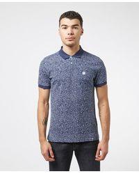 Pretty Green Paisley Star Print Polo Shirt - Blue