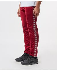 Kappa Banda Snap Slim Track Trousers - Red