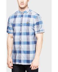 Lyle & Scott Bold Check Short Sleeve Shirt - Blue