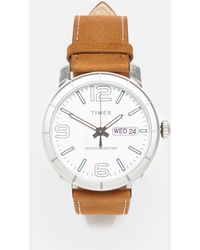 Timex Mod44 44mm Leather Strap Watch - Brown