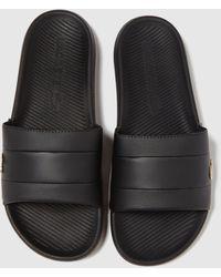 Lacoste Croco Sliders - Black