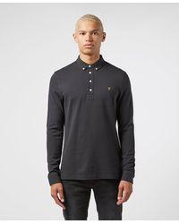 Farah Ricky Long Sleeve Polo Shirt - Multicolour