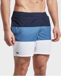 Lacoste - Colour Block Swim Short - Lyst