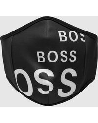 BOSS by Hugo Boss Bodywear Large Logo Black Facemask