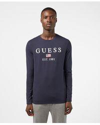 Guess Belong Long Sleeve T-shirt - Blue
