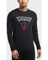 Guess - Tri Colour Logo Sweatshirt - Lyst