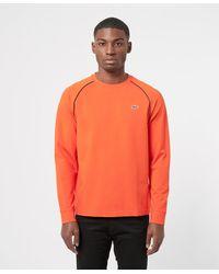 Lacoste Pipe Detail Long Sleeve T-shirt - Orange