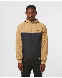 Fred Perry Colour Block Brentham Jacket - Brown