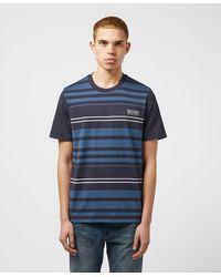 BOSS by Hugo Boss Stripe Short Sleeve T-shirt - Blue