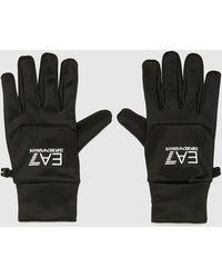 EA7 Logo-print Gloves - Black