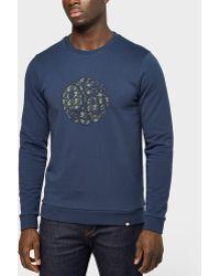 Pretty Green - Applique Crew Sweatshirt - Exclusive - Lyst