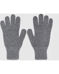 Barbour Wool Gloves - Gray