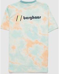 Berghaus Front & Back Tie Dye T-shirt - Pink