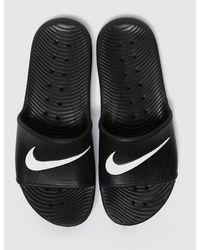 Nike Kawa Slide Shoe - Black